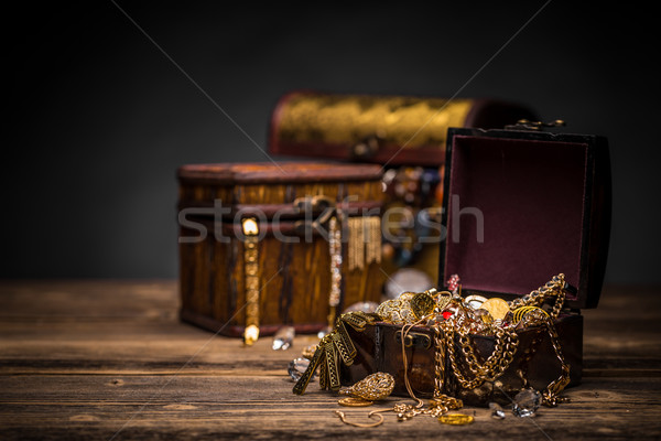 Wooden jewellery box Stock photo © grafvision