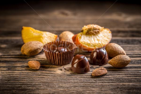Fine chocolate bonbon Stock photo © grafvision