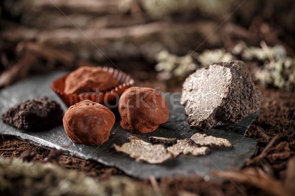 完全菜食主義者の チョコレート 自家製 健康 食品 黒 ストックフォト © grafvision