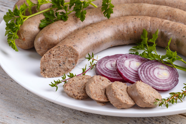 Home-made white pudding  Stock photo © grafvision