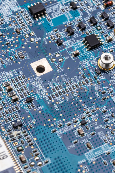 Stock fotó: Kék · nyáklap · közelkép · számítógép · háttér · digitális