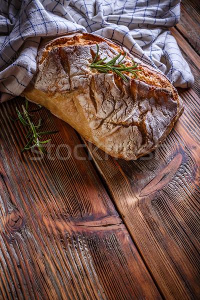 буханка хлеб пространстве текста продовольствие Сток-фото © grafvision