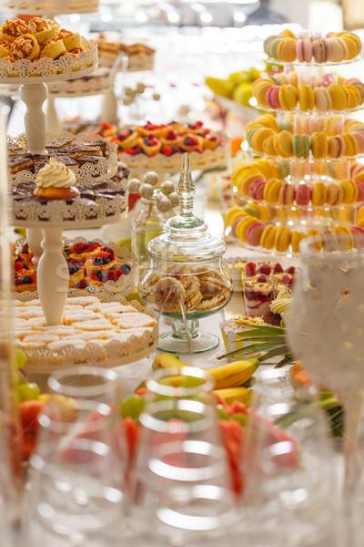 Foto stock: Casamento · doce · bar · tabela · bolos · outro