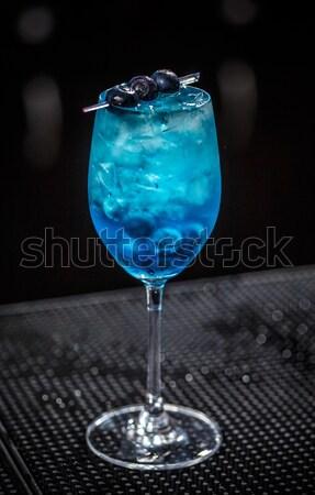 Blue lagoon cocktail  Stock photo © grafvision