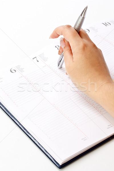 Dagelijks ontwerper foto vrouwen hand pen Stockfoto © grafvision