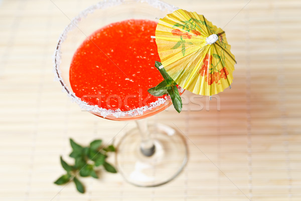 Sandía martini beber menta vidrio hielo Foto stock © grafvision