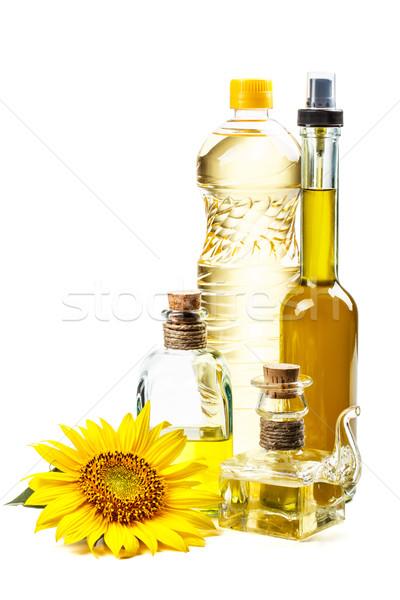 Napraforgóolaj csendélet virág étel napraforgó főzés Stock fotó © grafvision