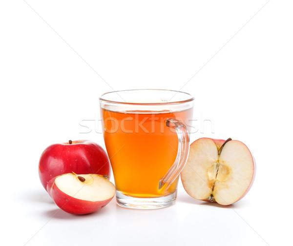 リンゴジュース ガラス 白 食品 リンゴ 色 ストックフォト © grafvision