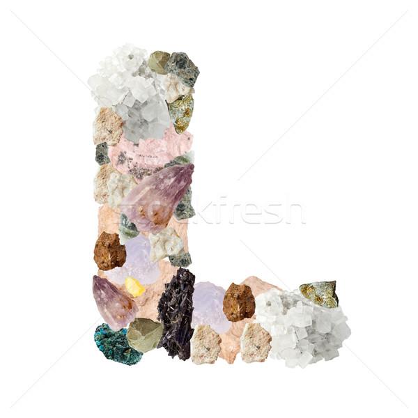 Minerali alfabeto isolato bianco lettera l metal Foto d'archivio © grafvision