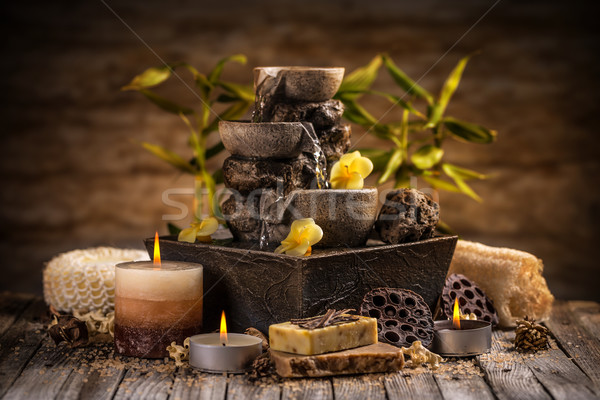 Stock photo: Tranquil spa relaxation setting
