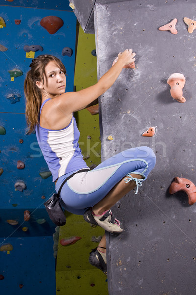 young, athletic girl climbing Stock photo © grafvision