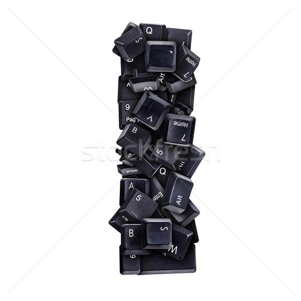 Mektup i klavye düğmeler yalıtılmış beyaz bilgisayar Stok fotoğraf © grafvision