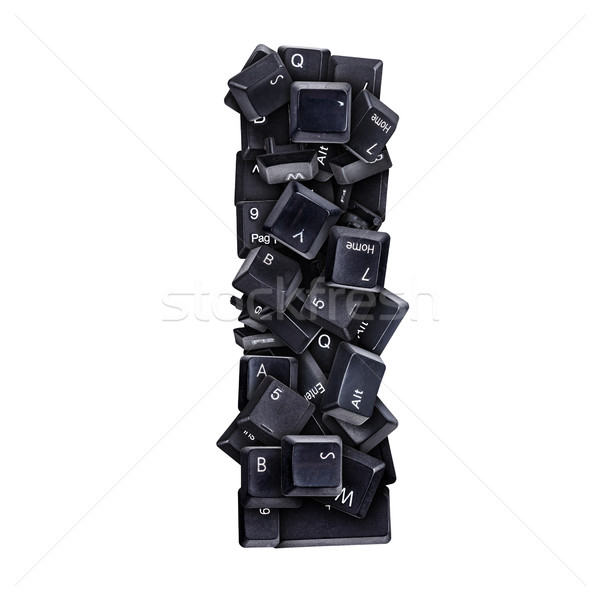 Letter i toetsenbord knoppen geïsoleerd witte computer Stockfoto © grafvision