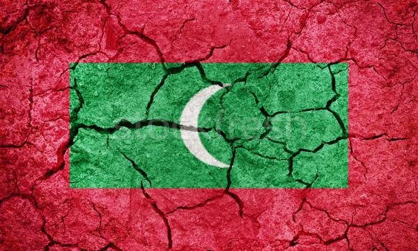 Köztársaság Maldív-szigetek zászló száraz Föld föld Stock fotó © grafvision