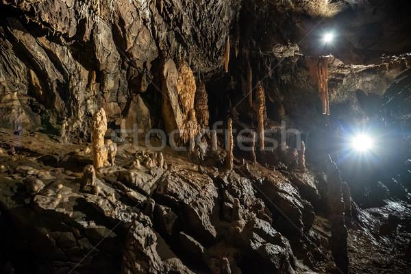 пещере парка стены природы фон каменные Сток-фото © grafvision