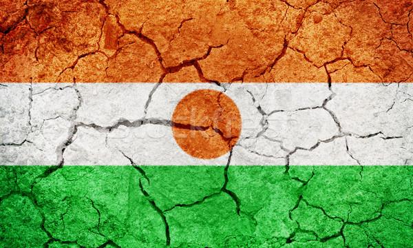 República Níger bandera secar tierra suelo Foto stock © grafvision