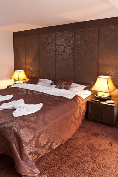 Quarto de hotel interior moderno confortável casa quarto Foto stock © grafvision