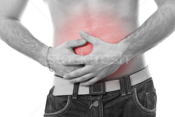 man having stomach pain Stock photo © grafvision