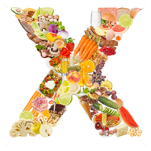 Letter X made of food Stock photo © grafvision