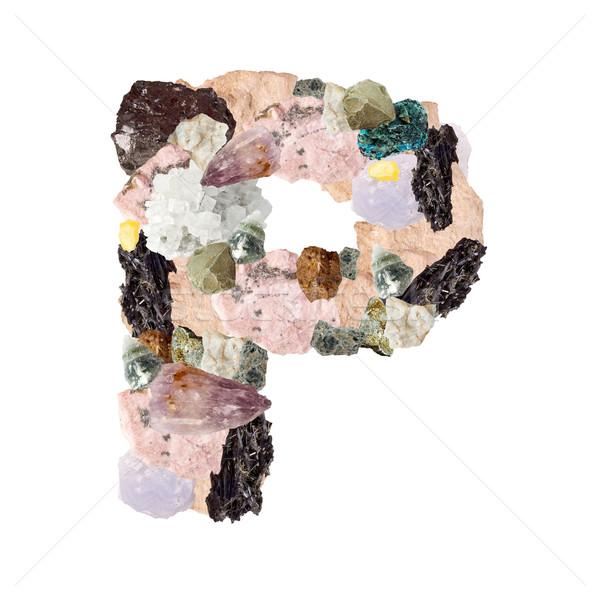 アルファベット 孤立した 白 金属 ストックフォト © grafvision