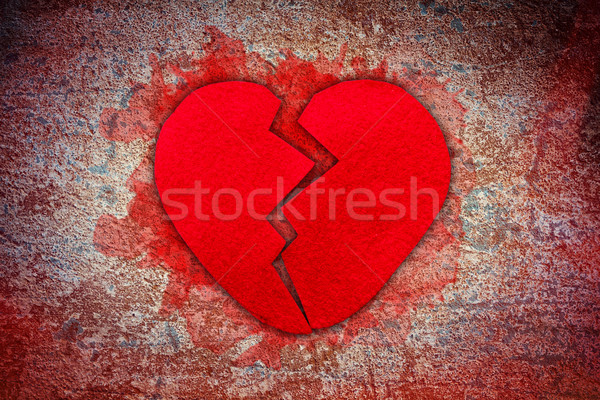 Felt broken heart  Stock photo © grafvision
