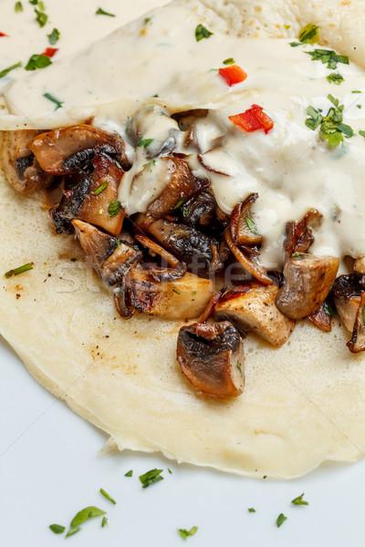 Pancakes with mushrooms Stock photo © grafvision