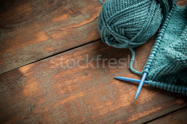 Woollen thread and knitting needle  Stock photo © grafvision