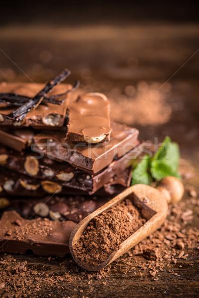 Stock photo: Chopped chocolate