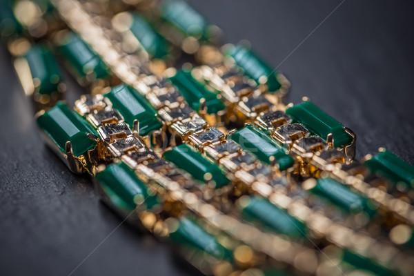 ожерелье зеленый камней женский моде Сток-фото © grafvision
