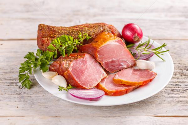 Spicy pork tenderloin Stock photo © grafvision