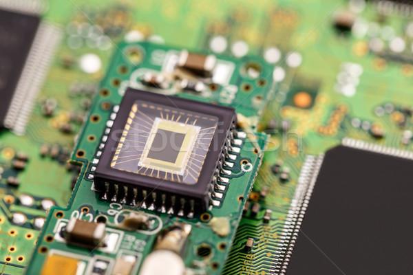 Processzor mikrocsip küldés információ számítógép internet Stock fotó © grafvision