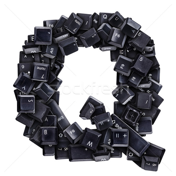 Stock photo: Letter Q made of keyboard buttons