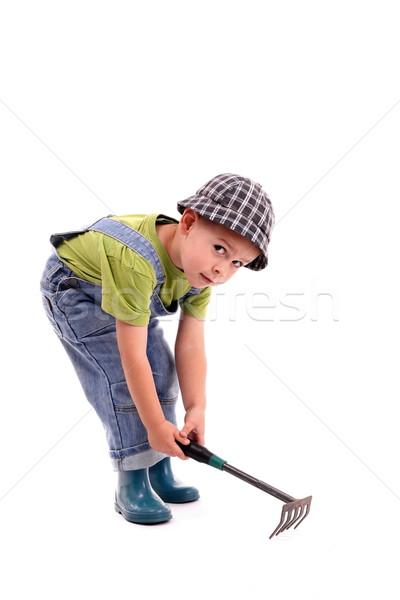 Gardener boy Stock photo © grafvision