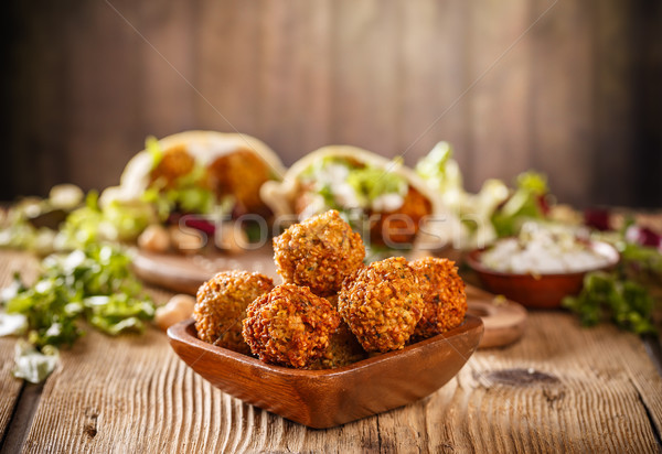 Fresh falafel balls Stock photo © grafvision