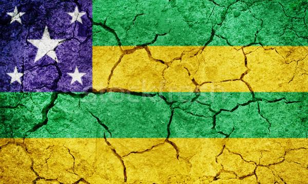 Brazília zászló száraz Föld föld textúra Stock fotó © grafvision