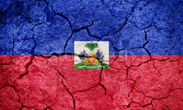 Repubblica Haiti bandiera asciugare terra terra Foto d'archivio © grafvision