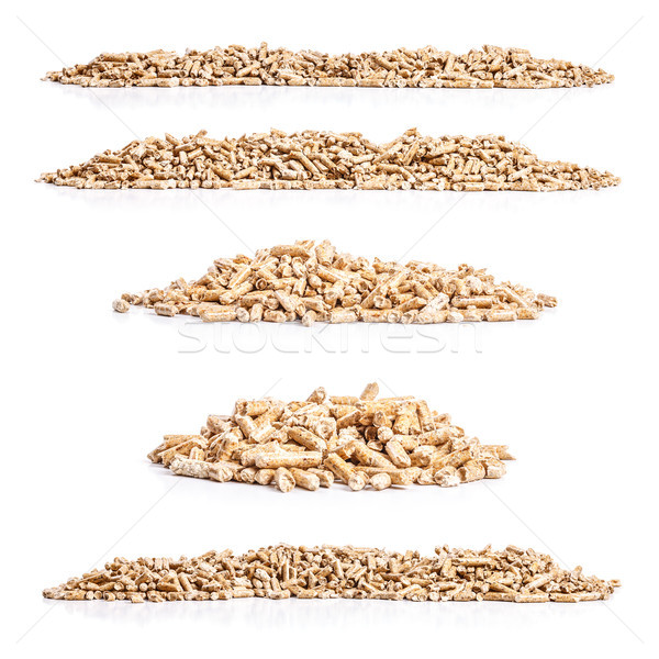 Set of wood pellets Stock photo © grafvision