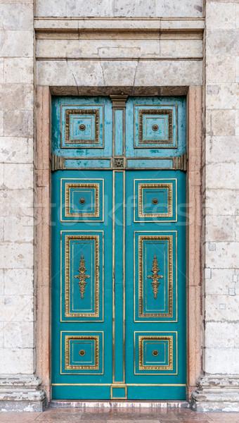 синий двери вход дверной проем украшения Сток-фото © grafvision