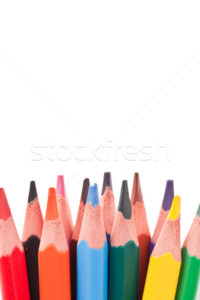 Triangular color pencils Stock photo © grafvision