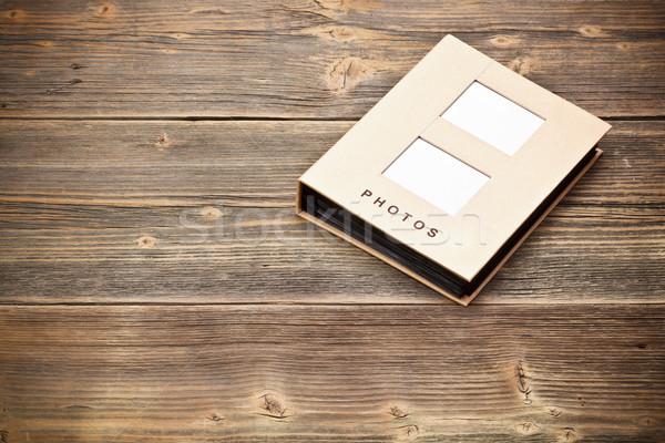 Fényképalbum fából készült papír portfólió album archívum Stock fotó © grafvision