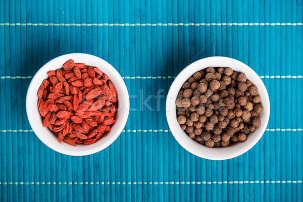 Goji berries and allspice Stock photo © grafvision