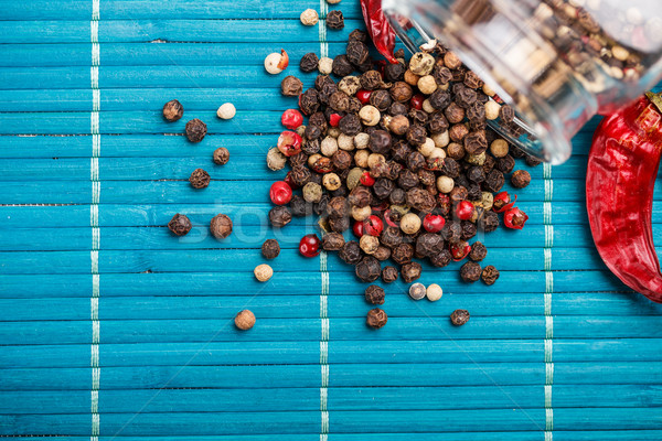 смесь стекла банку зеленый красный Сток-фото © grafvision