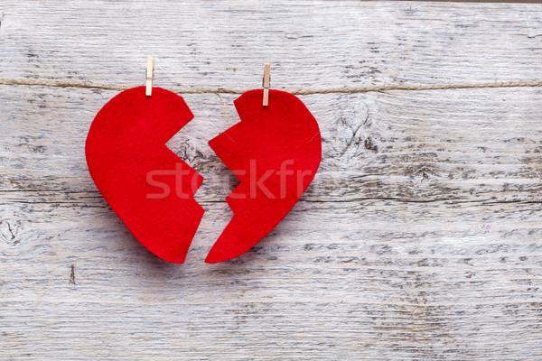 подвесной веревку любви пространстве сломанной Сток-фото © grafvision