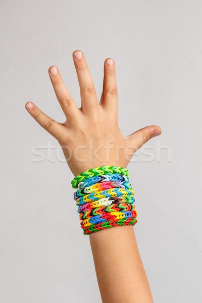 Loom band rubber bracelets Stock photo © grafvision