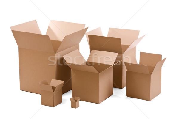 ストックフォト: 段ボール · ボックス · 白 · オフィス · 倉庫 · バランス