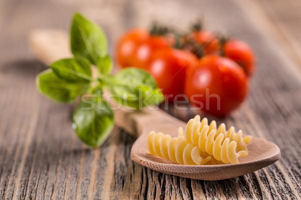 Pâtes alimentaire repas spirale ingrédient Photo stock © grafvision