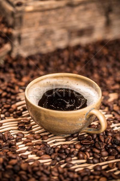 Kávészünet csésze kávé reggeli ötlet törik Stock fotó © grafvision