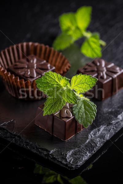 Chocolate praline candy Stock photo © grafvision