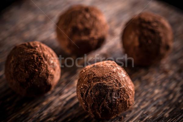 Maison chocolat alimentaire fond noir sweet Photo stock © grafvision