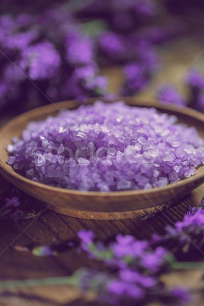 Lavender sea salt Stock photo © grafvision